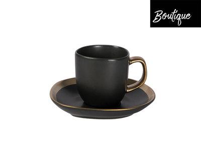 Dynasty Espresso Kop En Schotel 80 ml - Set van 2