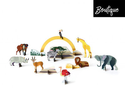 Studio Roof Savanna Animals Playset