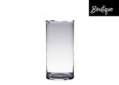 Transparante Glazen Vaas Carved Medium