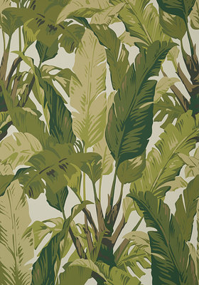 Thibaut Travelers Palm Behang Sage