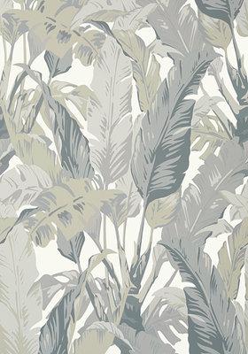 Thibaut Travelers Palm Behang Grijs