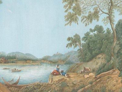IKSEL Pillement Landscape behang landschap behang historisch 4