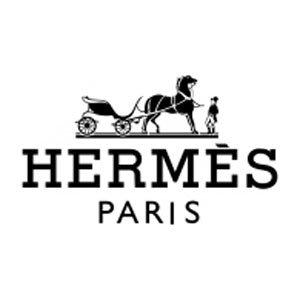 Hermes behang stoffen staal logo