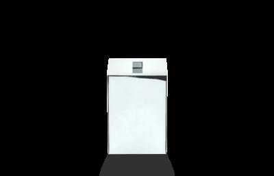 Afvalbak Met Deksel Decor Walther DW 75 Chroom 0614100
