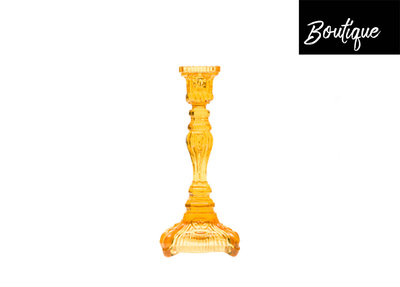 Kandelaar Glas Amber Fin de siècle