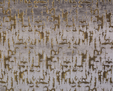 Dutch Wall Textile Co. Caribou collectie  57 otter grijs jacquard geweven velours