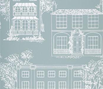 Behang Little Greene Hampstead Penumbra 20th Century Papers Collectie