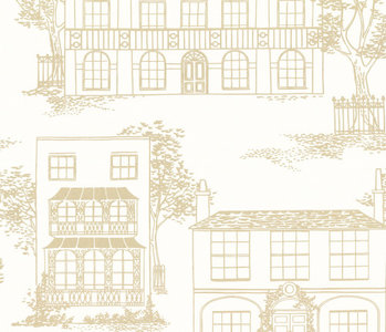 Behang Little Greene Hampstead Cloister 20th Century Papers Collectie Luxury By Nature