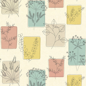Behang Little Greene Herbes cocktail 20th Century Papers Collectie Luxury By Nature