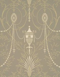 Little Greene behang, London Wallpapers 2, Marlborough, beige, wit, 0273MABOUTI,