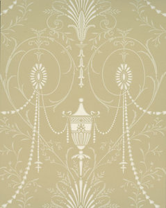 Little Greene behang, London Wallpapers 2, Marlborough, beige, wit, 0273MACHAMP,