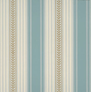 Little Greene behang, London Wallpapers 2, behang,Maddox street, groen, wit, streep, 0273MSblued,