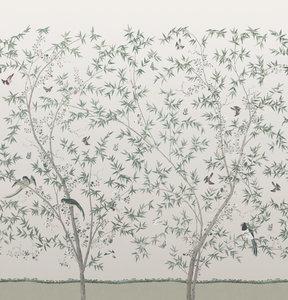 Little Greene Belton Scenic behang Oyster little greene behang