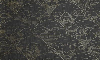 Indigo Macaque behang arte jeans apen MO3001