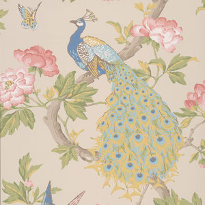 Little Greene Pavona Behang Peacock National Trust Papers Hazel