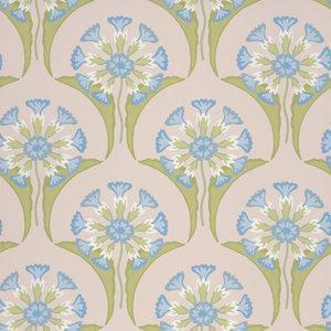 Little Greene Hencroft Behang National Trust PapersBlue Primula