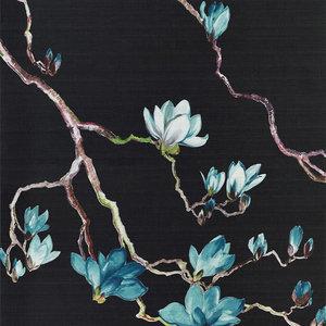 Phillip Jeffries Blossom Behang Multicolor Midnight 6406