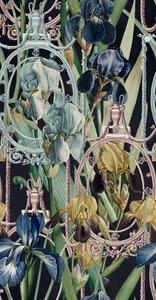 Mind the Gap Fleurs d'Iris antraciet behang