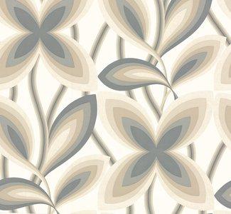 Little Greene Starflower behang - Platinum