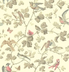behang cole and son winterbirds
