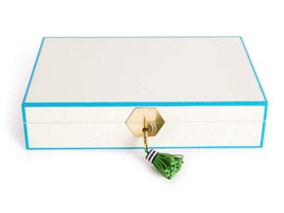 Jonathan Adler Sieradendoos Lacquer Jewelry Box White