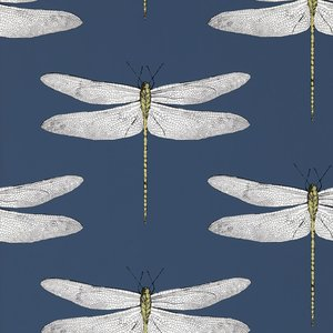 behang Harlequin Demoiselle 111243 ink chartreuse Palmetto Behangpapier Luxury By Nature