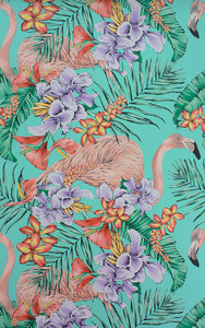 Behang Matthew Williamson Flamingo Club W6800-01 Cubana Behangpapier Collectie Luxury By Nature