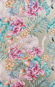Behang Matthew Williamson Flamingo Club W6800-07 Cubana Behangpapier Collectie Luxury By Nature