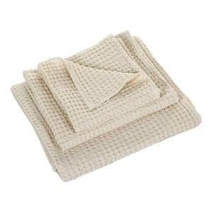 Wafel handdoek ecru 101 Pousada collectie Abyss Habidecor handdoeken