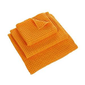 Luxe wafelhanddoeken oranje orange 635 - Pousada Serie Abyss Habidecor Stapel