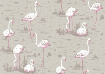 Behang Cole and Son Flamingos wave Contemporary Selection Luxury By Nature