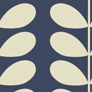 giant stem orla kiely behang blauw luxury by nature