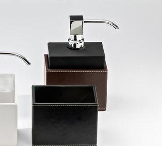 Luxe Zwarte Zeeppomp Van Glas En Bruin Kunst Leer: Decor Walther ...