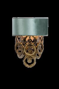 Lumière Glasschakel wandlamp met glazen ringen goud 1125 Luxury By Nature