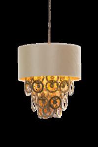 lumire glasschakel hanglamp met glazen ringen goud h700 luxury by nature
