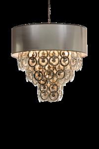 Lumière Glasschakel Hanglamp met glazen ringen zilven H701 Luxury By Nature
