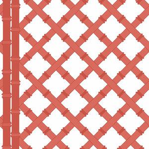 rood wit behang trelis gaston y daniela libreria
