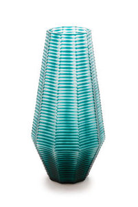 Turquoise Vaas Van Glas