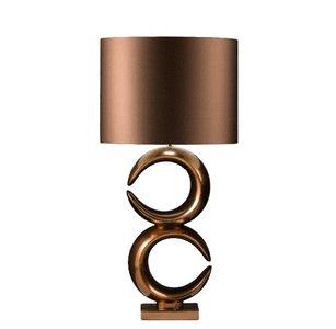 Stout Verlichting Luna Tafellamp groot dubbel golden brons