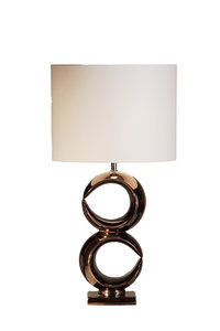 Stout Verlichting Luna Tafellamp dubbel rose bronze glans