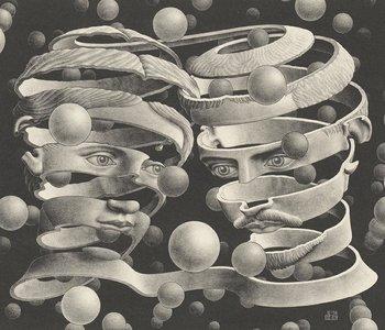 MC Escher behang bound of union 23186 Escher wallcovering Bound_of_Union_lw