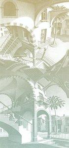 MC Escher boven en onder behang Up and Down wallcovering 23183