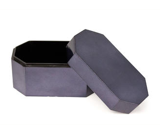 Houten Box Blauw Lak