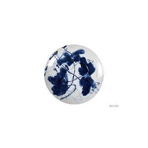 Porseleinen Schaal Blauw Wit - Handbeschilderd