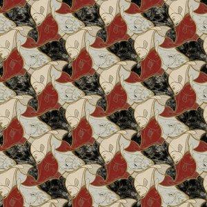 MC Escher Vissen behang 23100_FISH Escher wallcovering