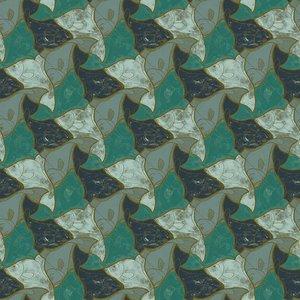 MC Escher Vissen behang 23101 FISH Escher wallcovering