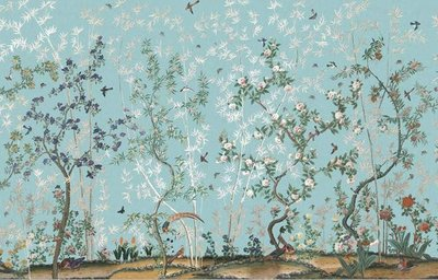 IKSEL Eastern Eden behang chinoiserie Blue breed