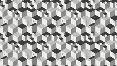 MC Escher cube behang 23151 Escher wallcovering cube 23151