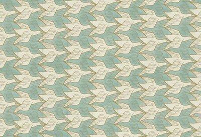 MC Escher Two Birds 23130 Escher twee vogels behang 23130