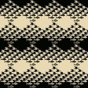 MC Escher Sky and Water behang 23120 Escher behang lucht en water wallcovering SKY AND WATER